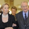 Queen Paola and King Albert arrive for the reception