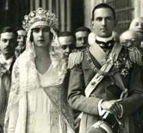 Maria José and Umberto on their wedding day - copyright expired
