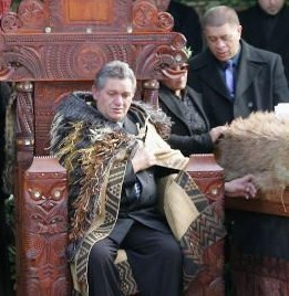 Enthronement of the Maori King