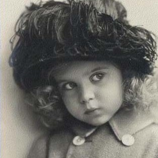 Princess Ingrid as a child