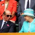 The Duke of Kent and Queen Elizabeth II at Wimbledon, 2010