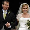 Peter and Autumn Phillips on their wedding day in May 2008