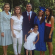 The Pahlavis gather for Noor's (second from right) graduation