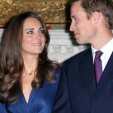 Catherine Middleton and Prince William during the press call