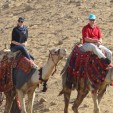 Prince Albert and Charlene Wittstock ride camels in Egypt