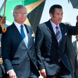 Carl XVI Gustaf and President Khama