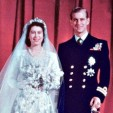 The Princess Elizabeth and the Duke of Edinburgh on their wedding day