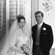 A portrait of Princess Margaret and Antony Armstrong-Jones on their wedding day