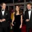 The Duke and Duchess of Cambridge and Prince Harry at the Sun Military Awards; 19-12-2011