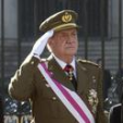 King Juan Carlos salutes during the 2012 Pascua Militar; 06-01-2012