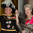 Prince Henrik and Queen Margrethe at the 2012 New Year's Court; 01-01-2012