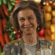Queen Sofia of Spain during her visit to the Philippines