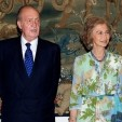 King Juan Carlos and Queen Sofia before the dinner; 08-08-2012