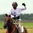 Sheikh Mohammed bin Rashid celebrates his win