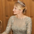Countess Stéphanie de Lannoy in Elie Saab at her pre-wedding gala banquet; 19-10-2012