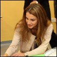 Click on image to view on Queen Rania's Facebook page
