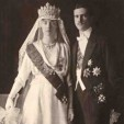 Grand Duchess Charlotte and Prince Felix on their wedding day