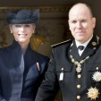 Princess Charlene and Prince Albert on the balcony during National Day; 19-11-2012