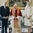 Prince Albert, Pope Benedict and Princess Charlene at the Vatican; 12-01-2013