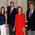 (L-R) The Prince and Princess of Asturias, Queen Sofia and King Juan Carlos