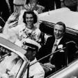 Princess Margaretha and John Ambler during their cortege following their wedding ceremony in June 1964