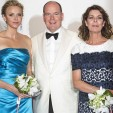 Princess Charlene, Prince Albert and Princess Caroline at the Red Cross Ball; 03-08-2013