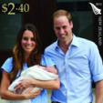 One of the stamps released by New Zealand Post to mark Prince George's birth