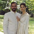 Prince Rahim Aga Khan and his wife, Kendra Spears, on their wedding day; 31-08-2013