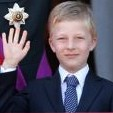 Prince Emmanuel on the balcony during festivities marking his father's installation as the Belgian monarch in July 2013