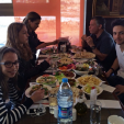 The Jordanian Royal Family enjoys lunch at a local restaurant