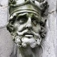 A sculpture of Brian Boru outside the Chapel Royal at Dublin Castle