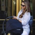 Princess Madeleine carries her daughter Leonore to an awaiting car in New York, headed for Sweden; 02-06-2014