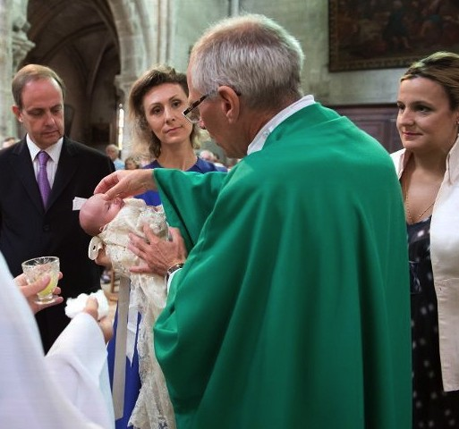 Princess Louise-Marguerite of Orléans is christened in Dreux