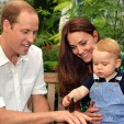 The Duke and Duchess of Cambridge with their son George