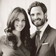 An official portrait of Prince Carl Philip and Ms Sofia Hellqvist