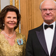 Queen Silvia and King Carl Gustaf attend the parliamentary dinner at the Royal Palace; 22-10-2014