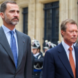 King Felipe and Grand Duke Henri outside the Grand Ducal Palace in Luxembourg; 11-11-2014