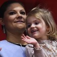 Crown Princess Victoria and Princess Estelle attend the opening of the European Figure Skating Championships