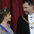 Queen Letizia and King Felipe at the gala dinner for the Colombian President; 02-03-2015