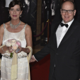Princess Caroline and Prince Albert attend the 2015 Rose Ball; 28-03-2015