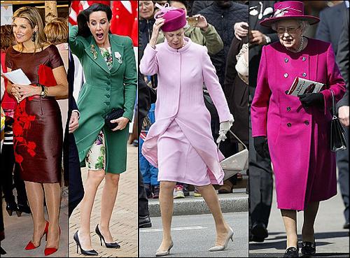 (L-R) Queen Maxima, Princess Marie, Princess Benedikte, Queen Elizabeth.