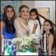 Empress Farah and three of her granddaughters celebrate the Persian New Year