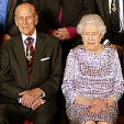 The Duke of Edinburgh and Queen Elizabeth attend a lunch for members of the Order of Merit; 15-04-2015