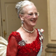 Queen Margrethe at the gala banquet held for her 75th birthday; 15-04-2015
