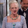 Queen Margrethe at the dinner at Fredensborg for her 75th birthday; 16-04-2015