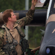 Prince Harry inspects a Armed Reconnaissance Helicopter in Darwin, Australia