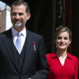 King Felipe and Queen Letizia attend the Cervantes Prize ceremony in Madrid; 23-04-2015