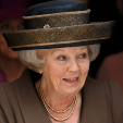 Princess Beatrix at the celebrations marking the anniversary of the King Willem Fund in London; 24-04-2015
