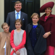 King Willem-Alexander and Queen Maxima with their three daughters ahead of Koningsdag; 27-04-2015
