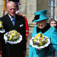 The Duke of Edinburgh and Queen Elizabeth at the 2015 Royal Maundy Service; 02-04-2015